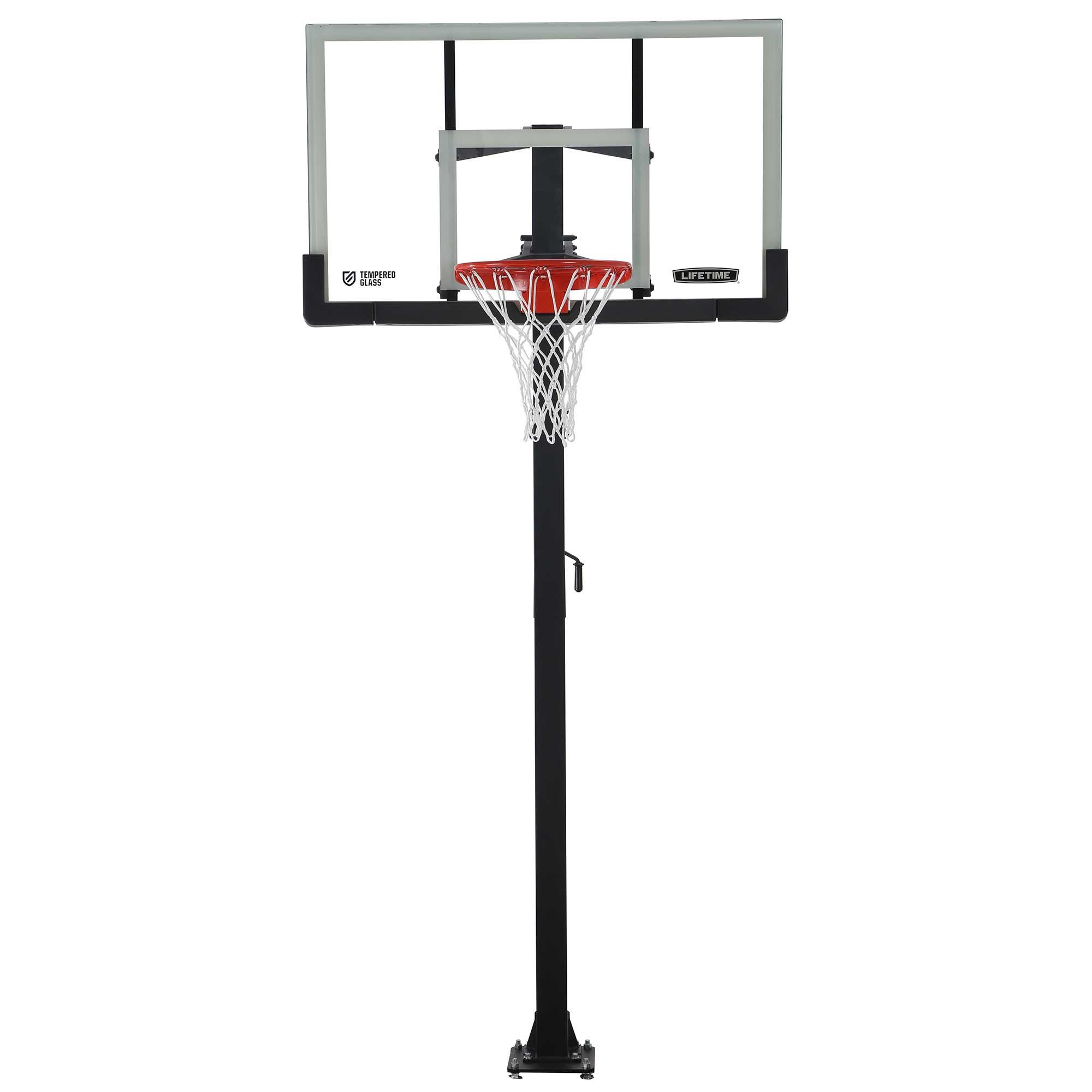 Lifetime 60 Inch Glass Basketball Goal On Sale Free