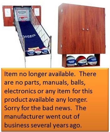 SO Classic Sport X0604 Arcade Basketball Hoops Cabinet