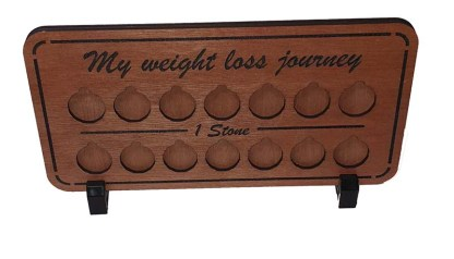 Weight loss journey plaque