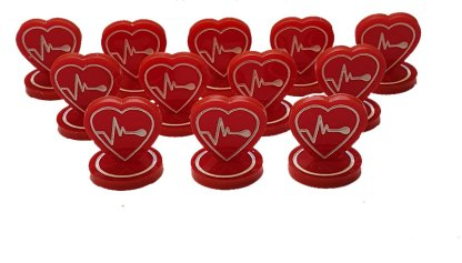 Heart tokens batch of 12