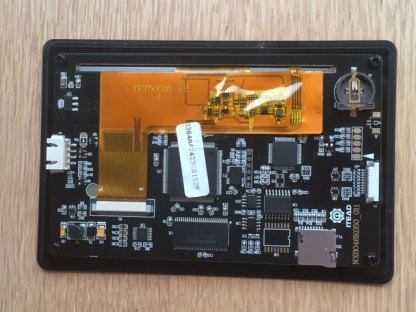 """Rear view of acrylic bezel for nextion 5.0"""" TFT display"""