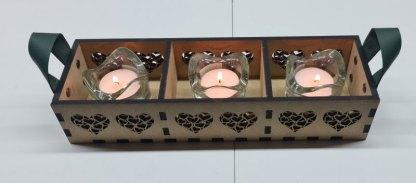 Tea light holder front view