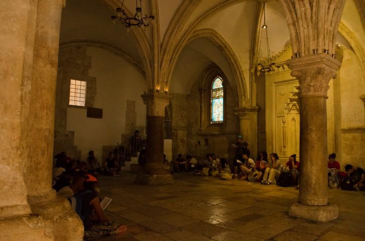 Interior de El Cenáculo, Jerusalén.