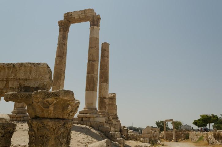 Templo de Hércueles en la Ciudadela de Ammán.