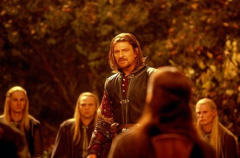 Image result for the lord of the rings aragorn boromir council of elrond