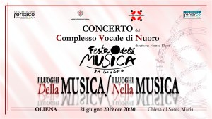 Concerto per la Festa della Musica 2019 @ Oliena - Chiesa di Santa Maria