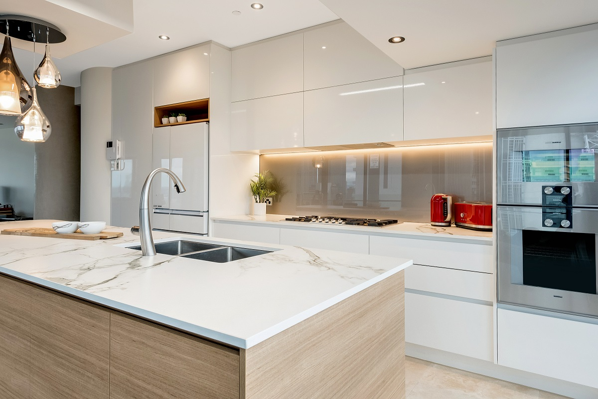 Small Kitchen Design Grey
