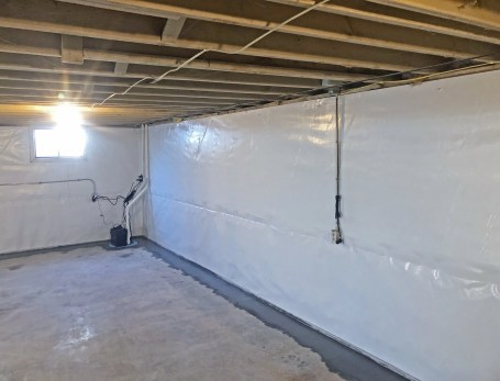 Basement After waterproofing with WallSeal