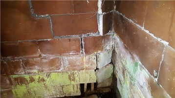 foundation wall in bad condition