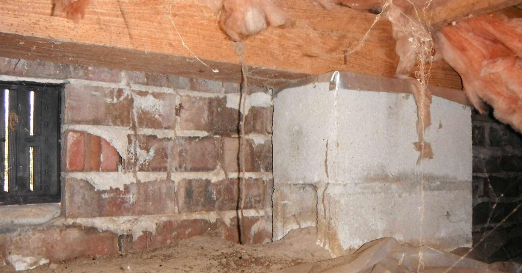 winter damage in the crawl space