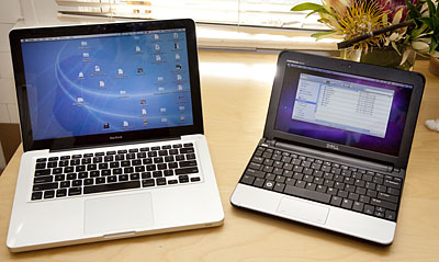 Mini10v vs. Macbook 13