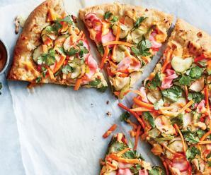 Pizza with Olives, Aleppo Pepper, and Fresh Mozzarella