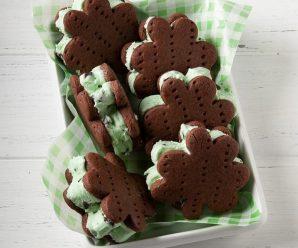 Ice Cream Shamrocks for St. Patrick's Day