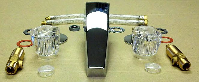 three piece garden tub faucet