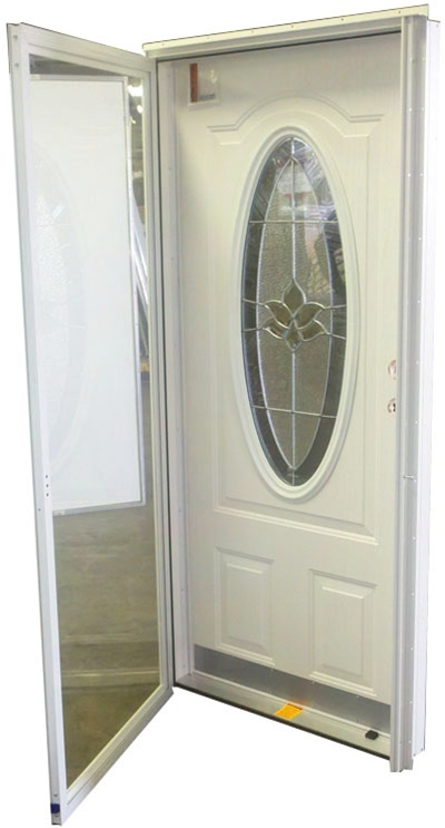 36x76 34 Oval Glass Door LH For Mobile Home Manufactured