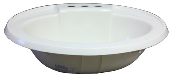 17 X 20 Oval Bone Plastic Sink For Mobile Home