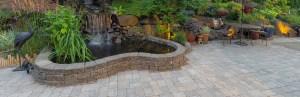 brick pavers patio hardscape