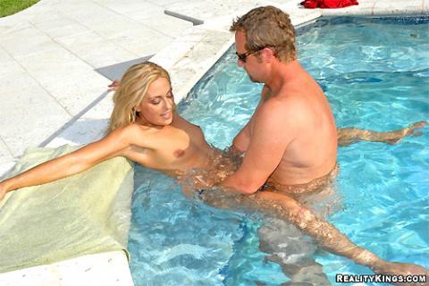neighbor swimming nude
