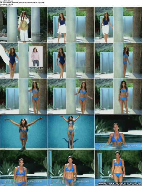 Valerie Bertinelli Commercial Swimsuit Wet Bikini Celebrity