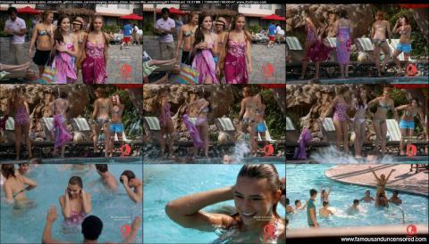 Aimee Carrero Blue Lagoon The Awakening Pool Swimsuit Tanned