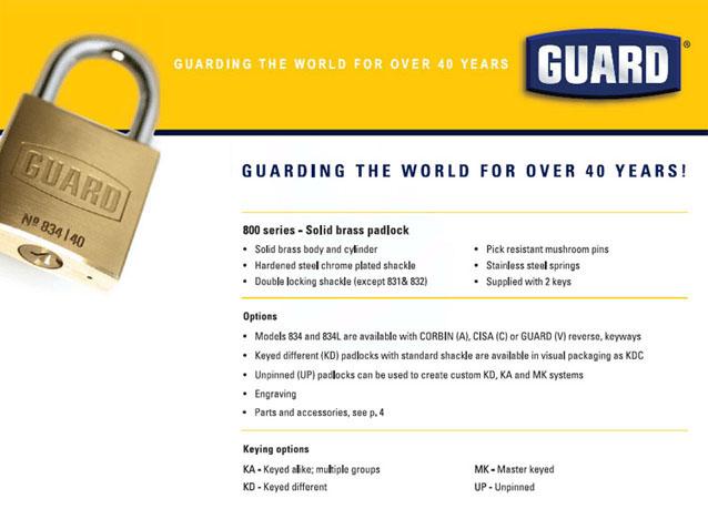 Guard 834 Padlock