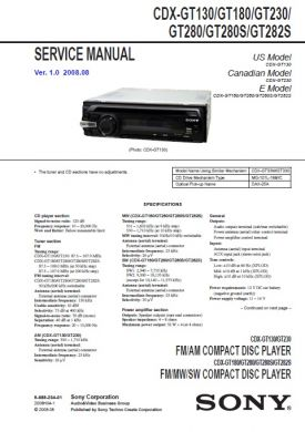 CDXGT280 Service Manual  Complete Service Manuals
