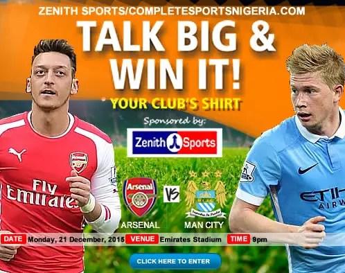 The Winners: Arsenal Vs Manchester City, Talk Big & Win It!