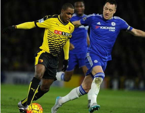 Ighalo, Mikel In Action As Watford Hold Chelsea