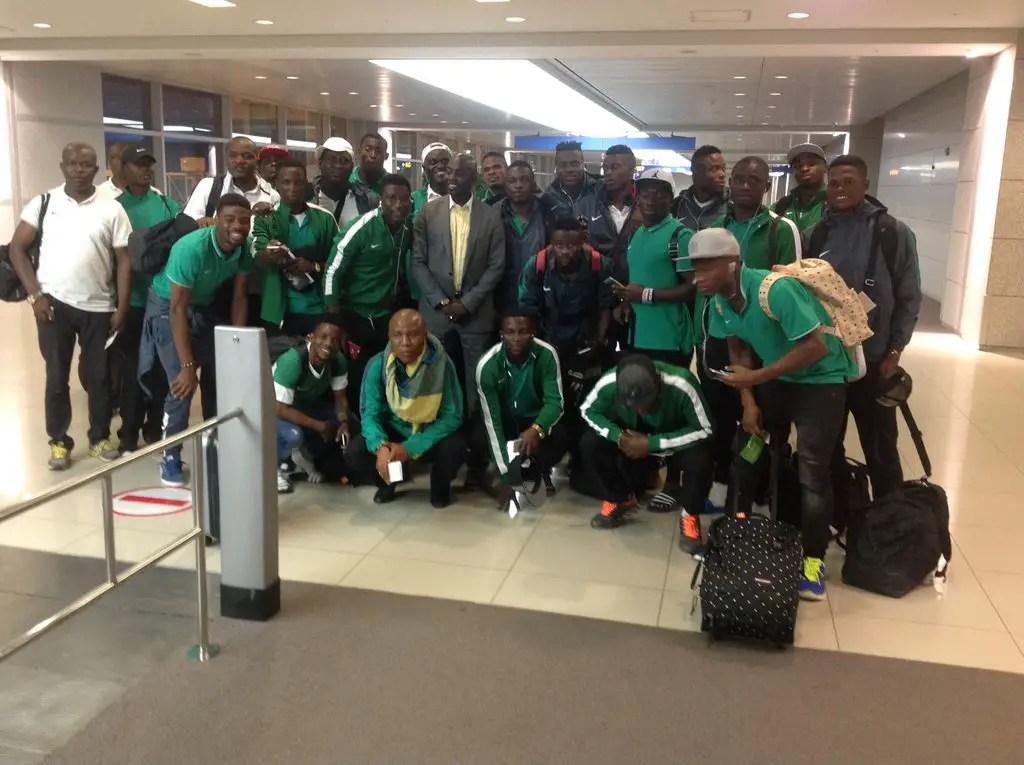 Nigeria U-23s Land In Seoul For Suwon Tourney