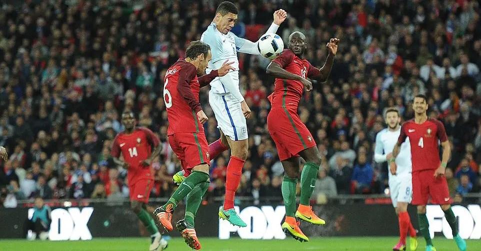 Smalling Scores As England Edge 10-Man Portugal