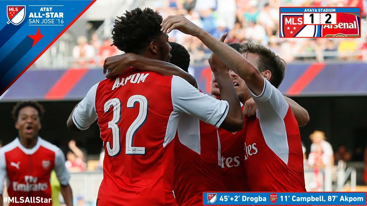 Wenger Happy Akpom Saved Arsenal From Penalties Vs MLS All-Stars