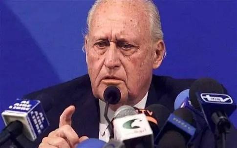 Former FIFA President Havelange Dies Aged 100