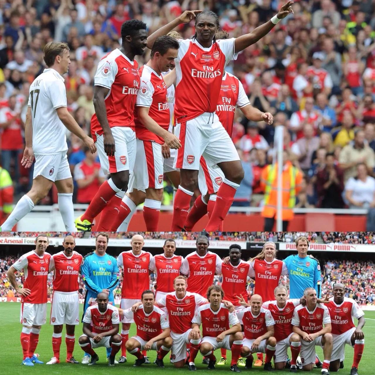 Arsenal Fans Want Kanu Back After Hat-trick Vs Milan Legends