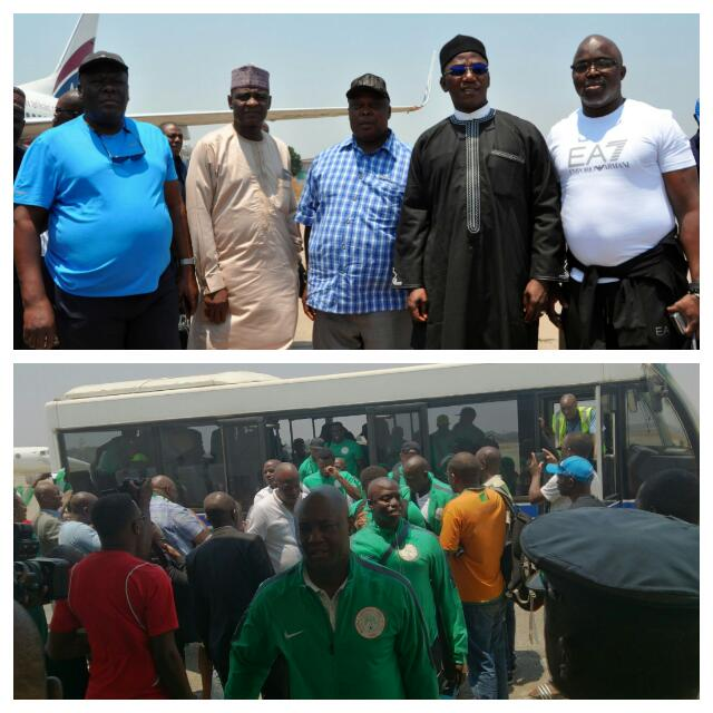 Zambia Vs Nigeria: Super Eagles Land In Ndola With Dalung, Politicians