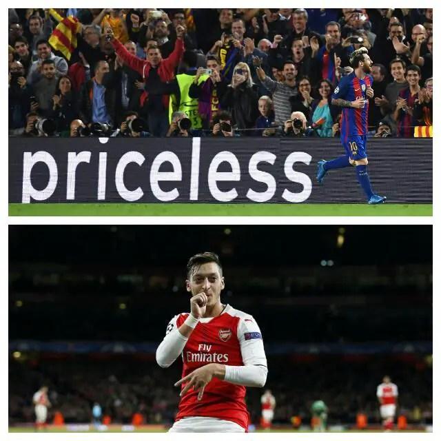 UCL: Messi, Ozil Grab Hat-tricks As Barca, Arsenal Win; Iheanacho Dropped