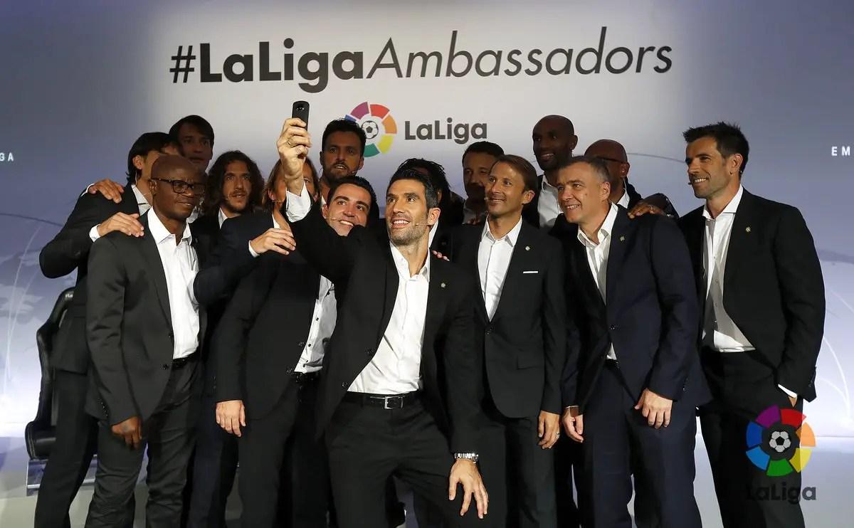 Xavi, Villa, Kanoute, Puyol Join Adepoju As LaLiga Ambassadors