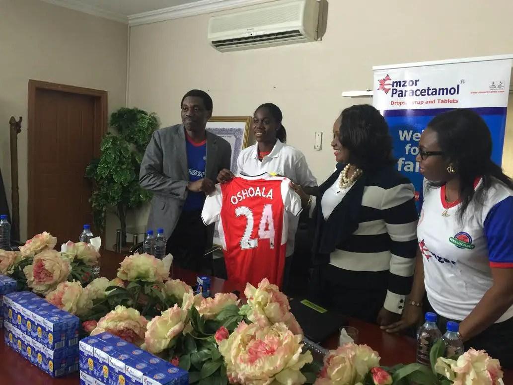 Oshoala Signs Emzor Deal, Backs Flamingoes To Bounce Back