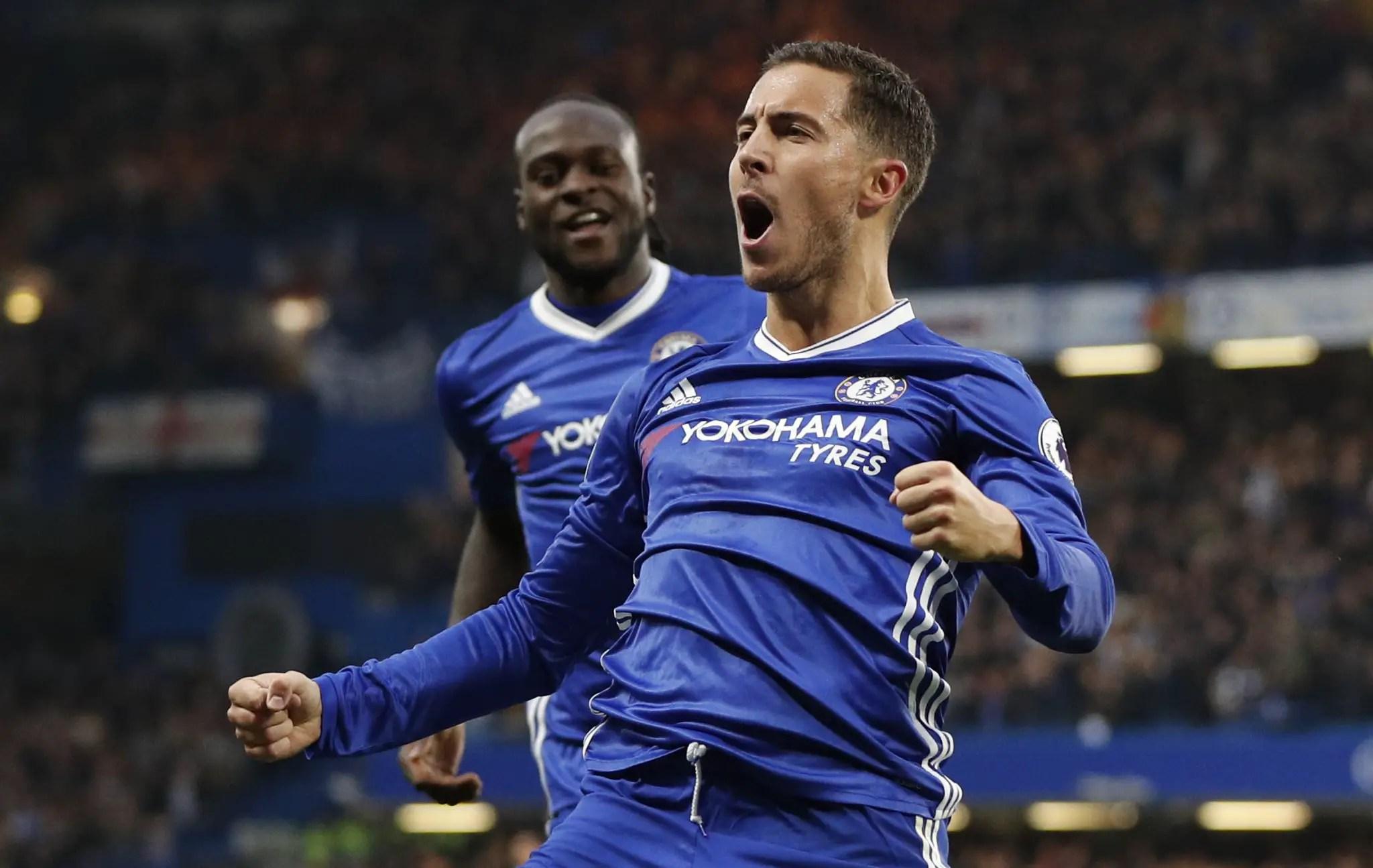 Moses, Hazard Star As Chelsea Dismantle Everton, Go Top