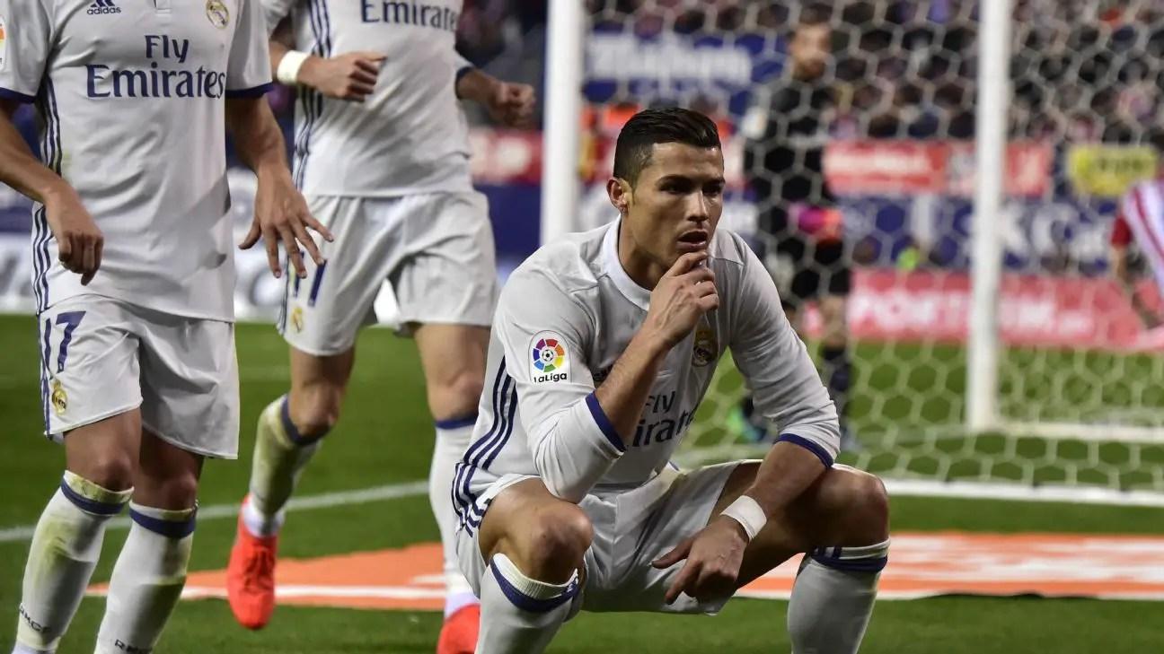 Ronaldo Hits Hat-trick As Real Thrash Atletico