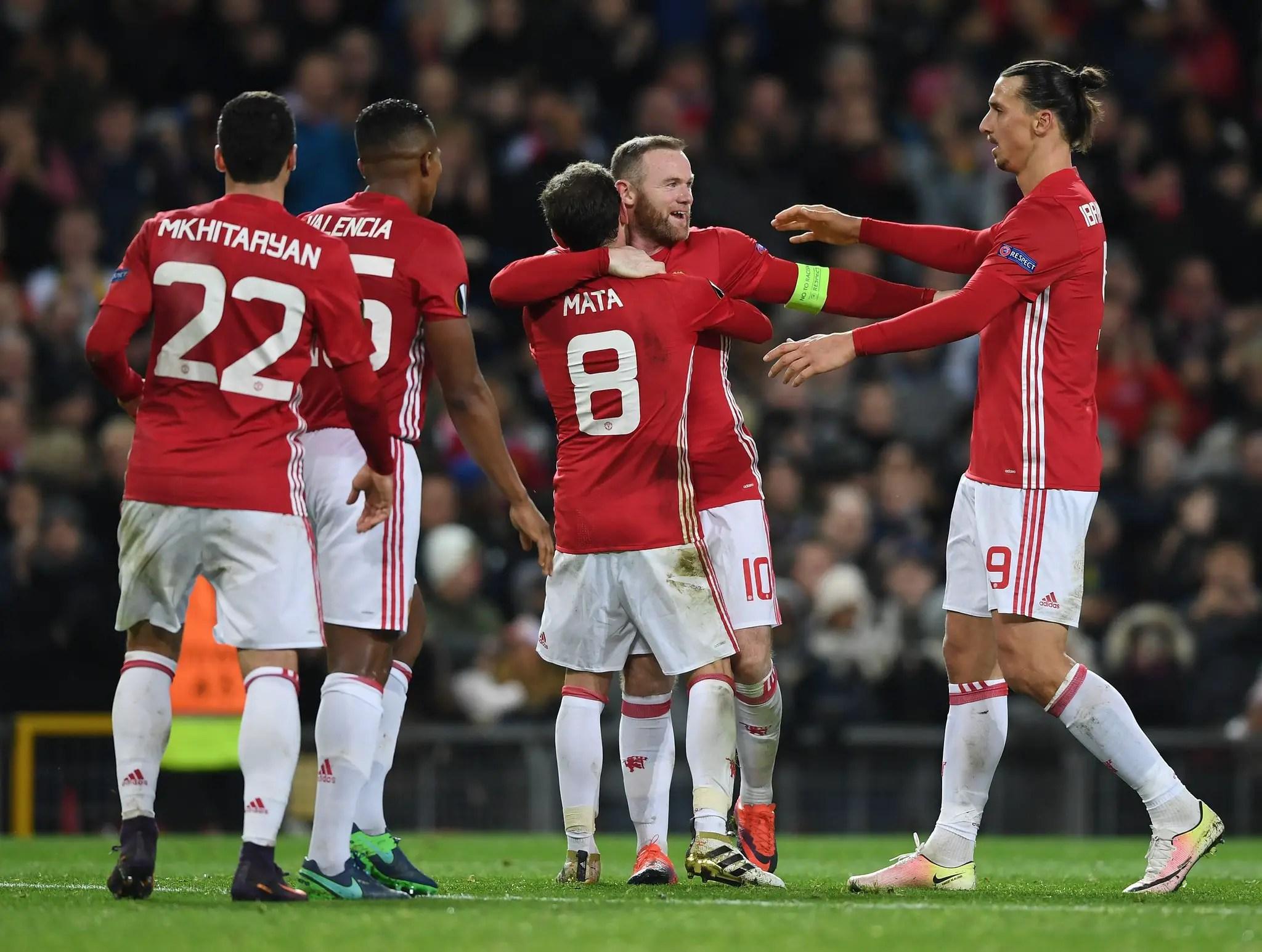 Europa: Rooney, Mata Fire United Past Feyenoord; Ideye, Balogun Shine