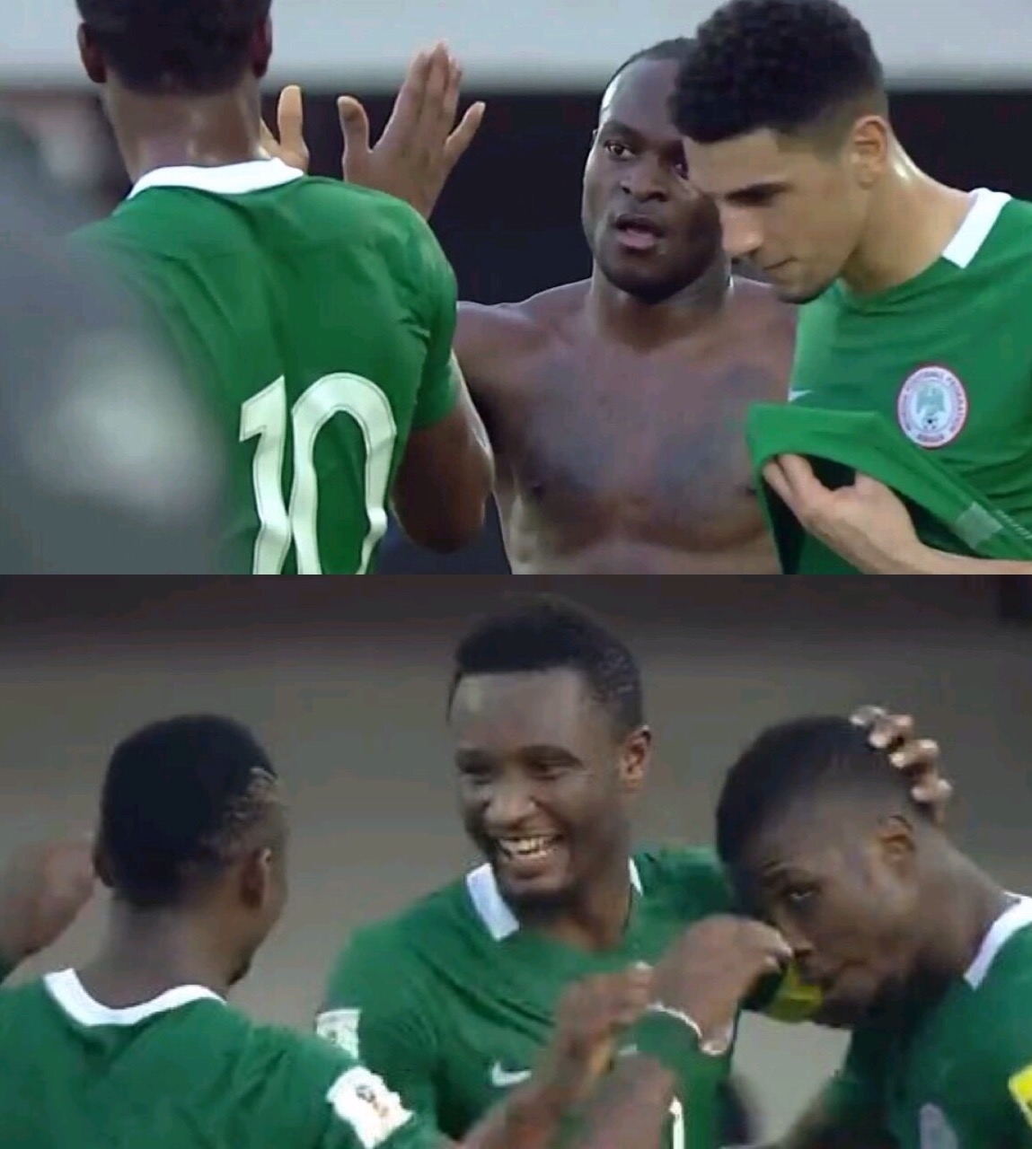 Moses, Mikel On Target As Rampant Super Eagles Maul Algeria