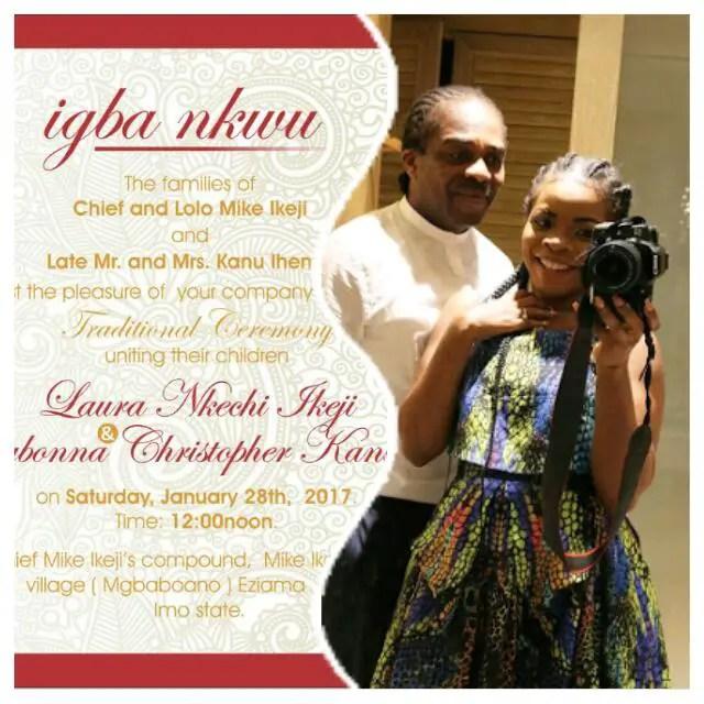 Ogbonna Kanu, Laura Ikeji Traditional Marriage Date Fixed