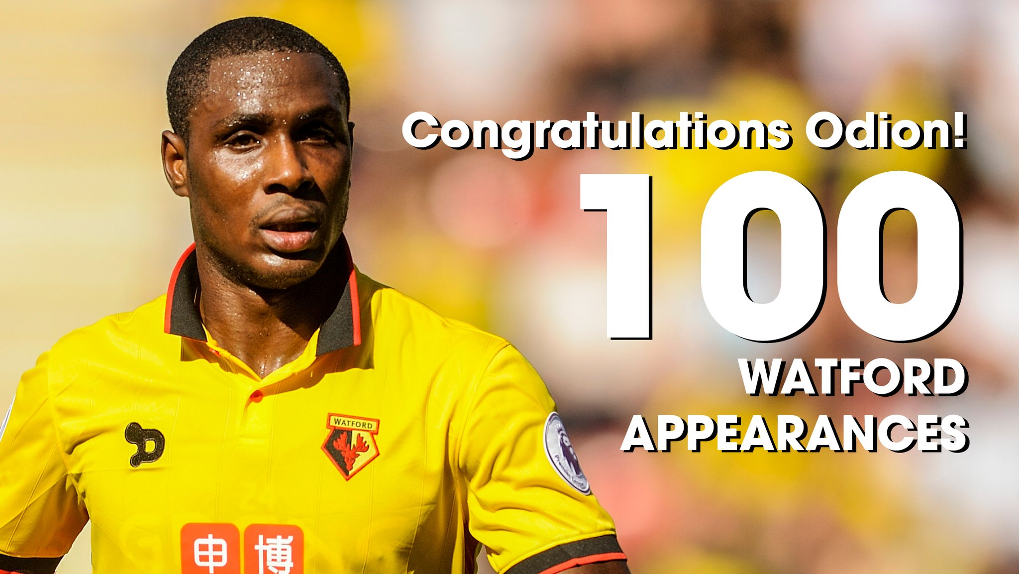Watford Celebrate Ighalo's 100th Game