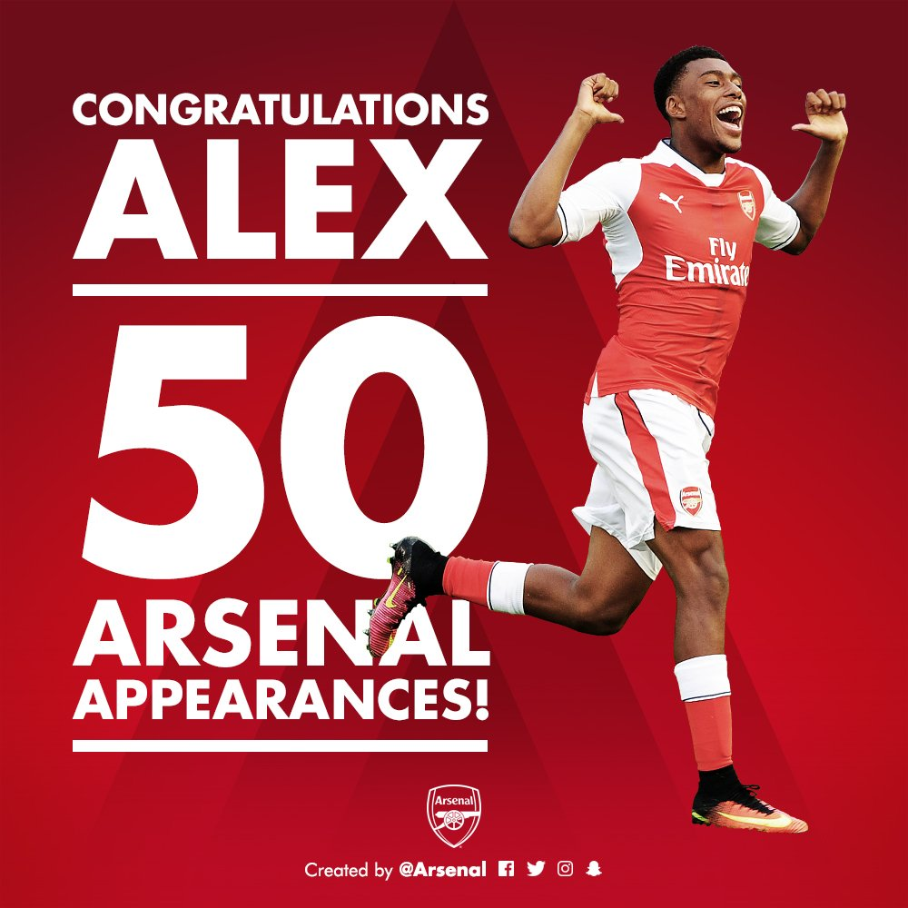 Arsenal Celebrate 'Big 17' Iwobi's 50th Appearance