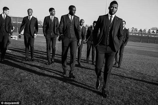 Iheanacho, Man City Stars Model Club's Italian Suit