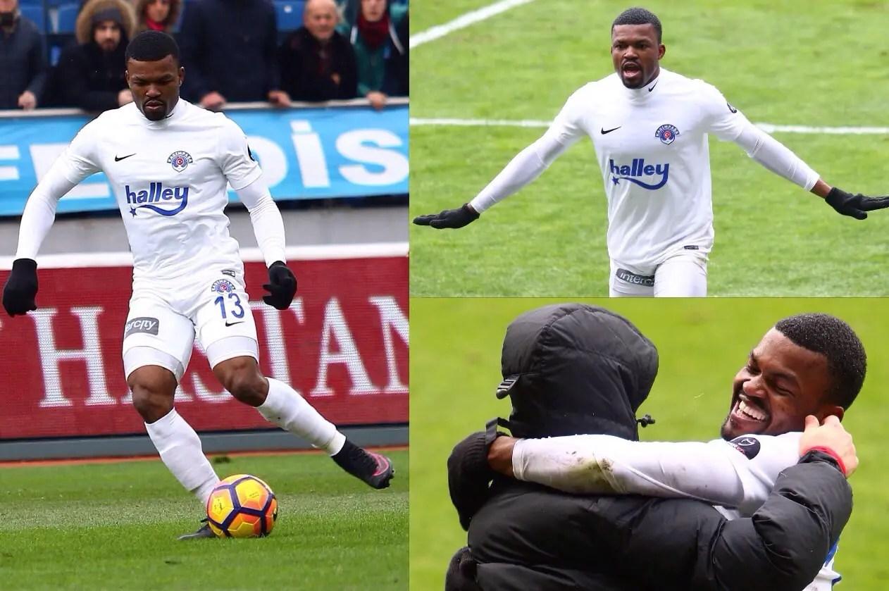 Eduok Scores In Kasimpasa Win; Igiebor Debuts for Rizespor; Echiejile Benched