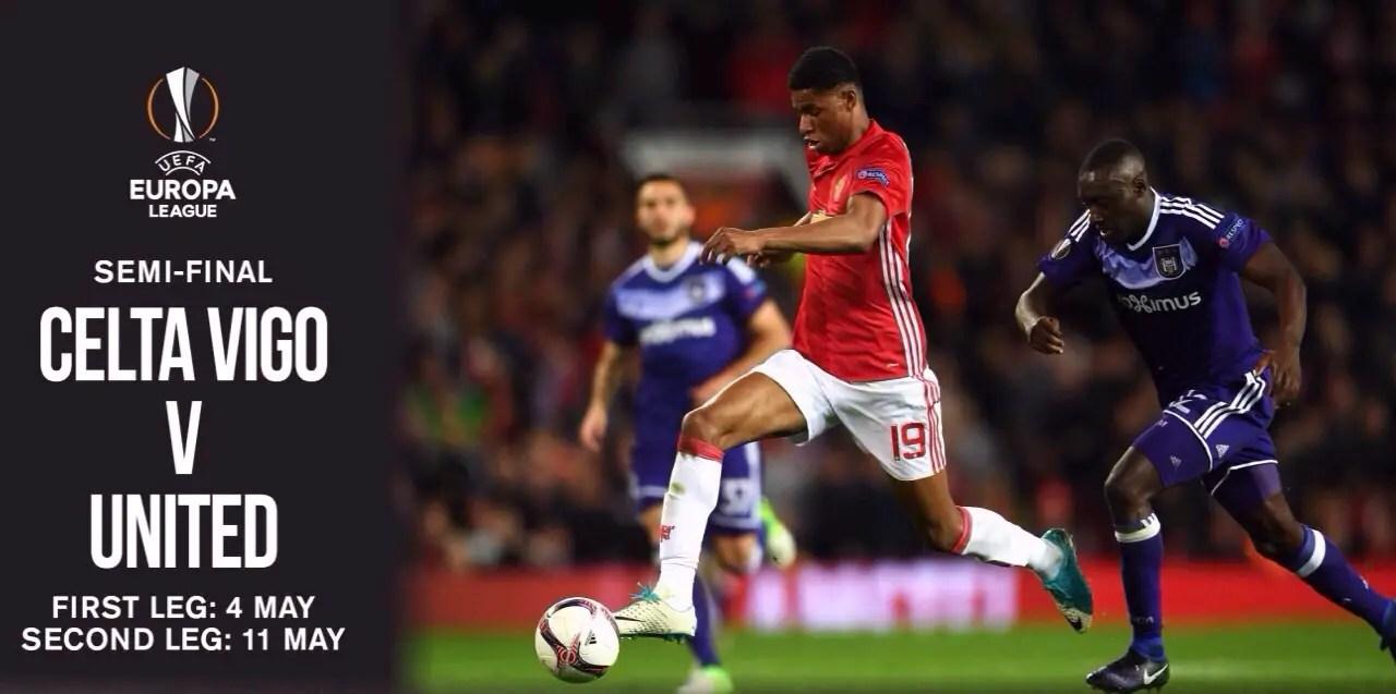 Europa League Semis: Man United Face Celta Vigo, It's Ajax Vs Lyon