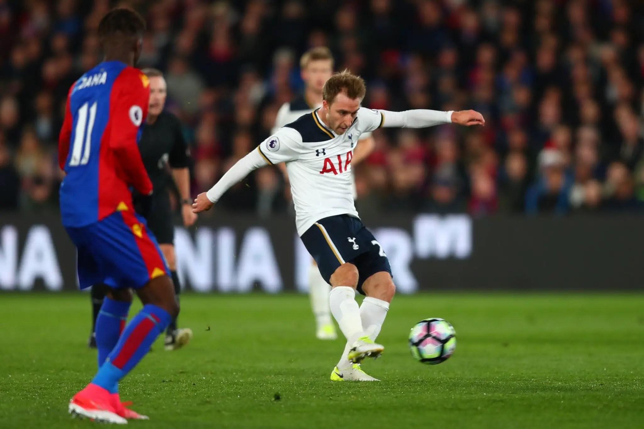 Eriksen's Goal Downs Palace, Keeps Tottenham In Premier League Title Race