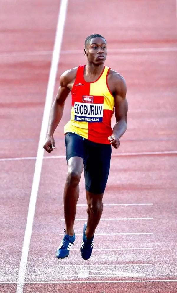 Nigerian British European Sprint Champion Ojie Edoburun Preps For Wembley Wins