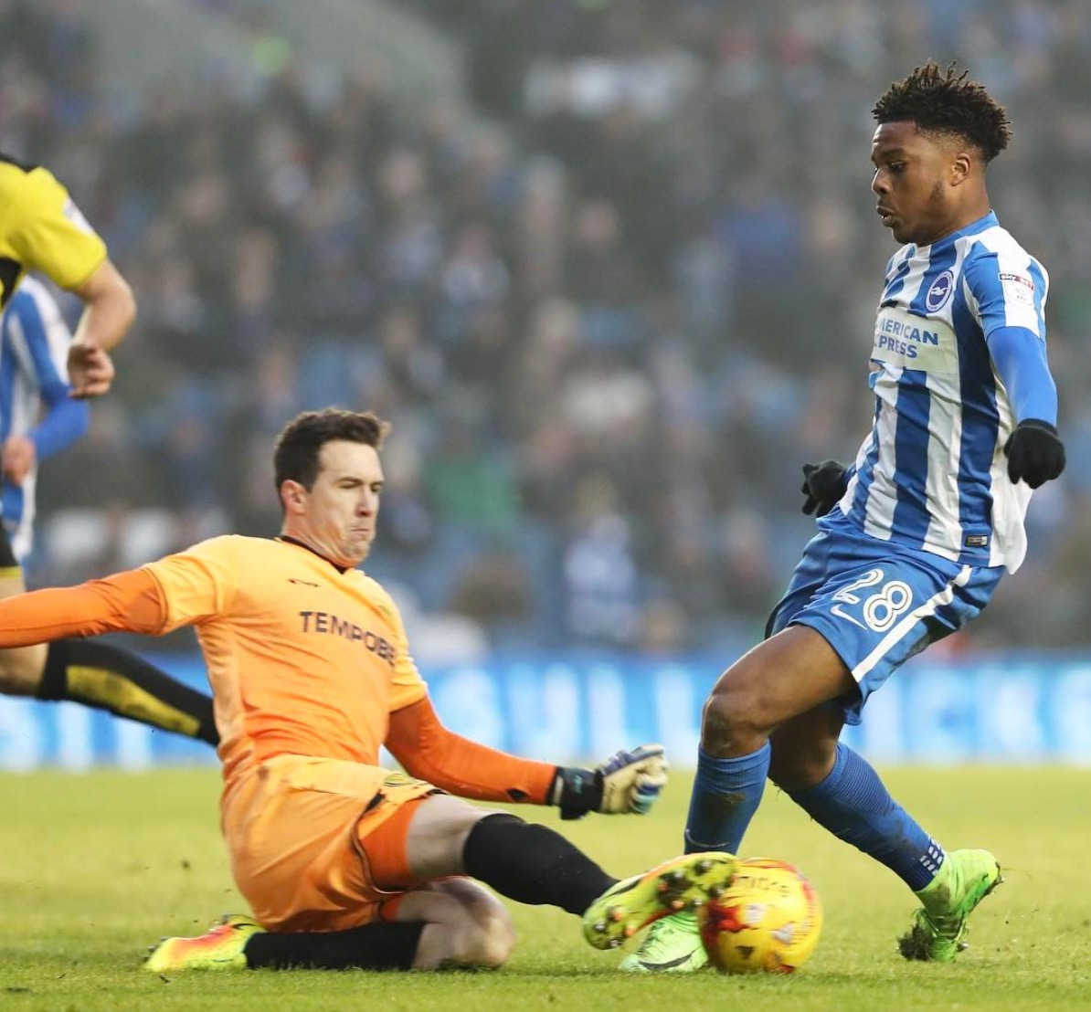 Loanee Akpom Pleased To Help Brighton & Hove Get EPL Promotion